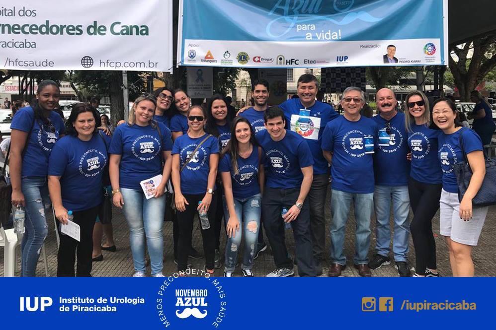 Equipe IUP em ação especial durante o Novembro Azul 2018